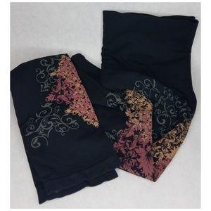 💋M. Rena black leggins with print